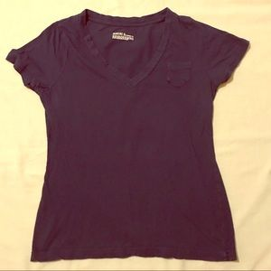 Mossimo Navy vneck tee size large